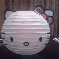 Leopard bow Hello Kitty  Inspired Lantern