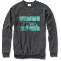 Unisex Heather Black Classic Crew | TOMS.com