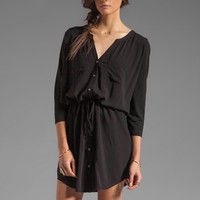 Soft Joie Dayle Linen Dress in Caviar from REVOLVEclothing.com