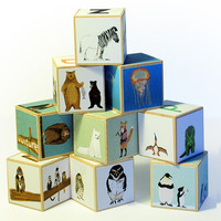 $38.99 Animal Alphabet blocks  set of 9 by katieviggers on Etsy