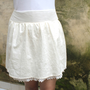 Spring Fashion Week Ivory Mini Skirt  color block by LoNaDesign