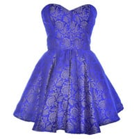 Blue Midas Party Dress | Style Icon`s Closet