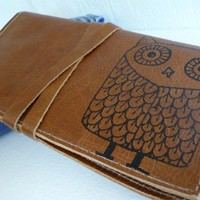 leather pocketbook checkbook cover card wallet by inblue on Etsy