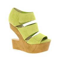 Cut Out Suede Wedges