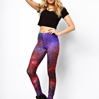 Star Galaxy Print Leggings