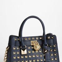 MICHAEL Michael Kors 'Hamilton' Studded Leather Satchel | Nordstrom