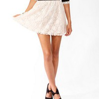 Scalloped Lace Skater Skirt | FOREVER 21 - 2043454431