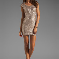 DRESS THE POPULATION Gabriella Dress in Champagne from REVOLVEclothing.com