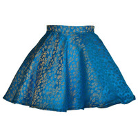 Midas Jacquard Turquoise Full Circle Party skirt | Style Icon`s Closet