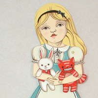 Alice In Wonderland Articulated Paper Doll For Scrapbooking Or Framing Signed By Artist, Jo James | Luulla