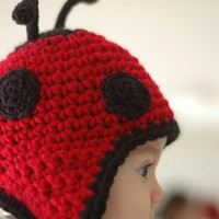 Red and Black Ladybug Hat Newborn and 03M by beliz82 on Etsy