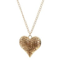 Rhinestone Heart Pendent Necklace | Shop Jewelry at Wet Seal