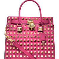 MICHAEL Michael Kors  Large Hamilton Pyramid-Stud Tote - Michael Kors