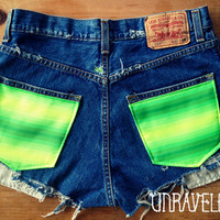 High Waisted Shorts, Levis  (Size MEDIUM to LARGE)