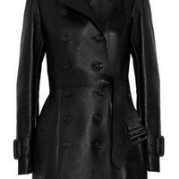 Burberry London | Leather trench coat | NET-A-PORTER.COM