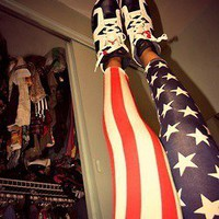 Vixen Boutique — American Flag Leggings