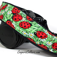 Ladybug dSLR Camera Strap, Red, Green,SLR