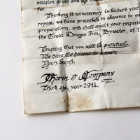 The Hobbit Thorin's Note Letter Contract To Bilbo Baggins