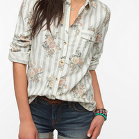BDG Classic Printed Button-Down Oxford Shirt