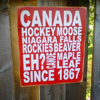 Canada Since 1867 wooden sign by dressingroom5 on Etsy