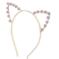 Rose Cat Ear Hair Band - Miss Selfridge
