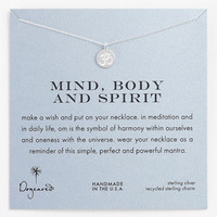 Dogeared 'Mind, Body & Spirit' Om Pendant Necklace | Nordstrom