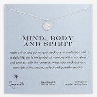 Dogeared 'Mind, Body & Spirit' Om Pendant Necklace