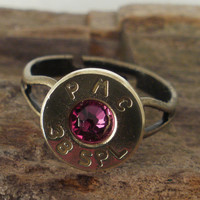 Bullet Ring 38 SPL Ruby by ShellsNStuff on Etsy