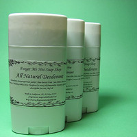 All Natural Deodorant with Tea tree Oil and by ForgetMeNotSoapShop
