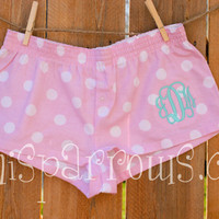 Monogrammed Ladies Boxer Shorts