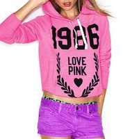 Cut-off Hoodie - Victoria's Secret Pink- - Victoria's Secret