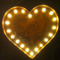 Vintage Marquee Lights Heart by VintageMarqueeLights on Etsy