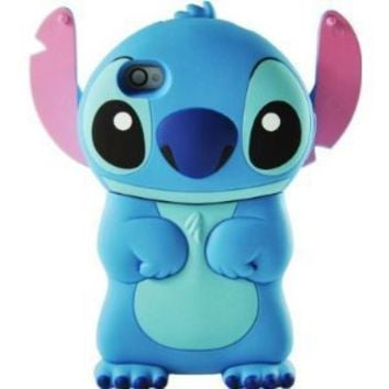 Blue Lilo and Stitch 3D Movable Ear Flip Hard Case Cover For Apple iPhone 4S / 4 (AT&T, Verizon, Sprint)