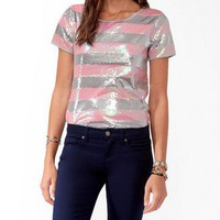 Sequined Stripes Tee