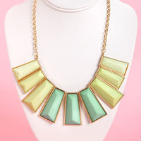 Dueling Pianos Gold Statement Necklace