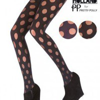 Henry Holland Reverse Polka Dot Tights - Tights, Stockings, Shapewear and more -  MyTights.com - The Online Hosiery Store