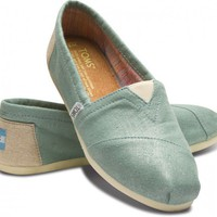 Classics - Mint Metallic Linen Women&#x27;s Classics | TOMS.com