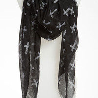 BP. &#x27;Allover Cross&#x27; Scarf | Nordstrom