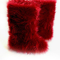 Fluffy Wuffies Wine/Red Outdoor Boots/booties