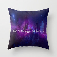 Hogwarts- Don't Let The Muggles Get Your Down Throw Pillow by Elyse Notarianni | Society6