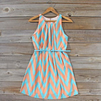Peaches & Clover Chevron Dress, Sweet Women's Bohemian Clothing