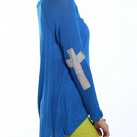 Cross Patch Sweater