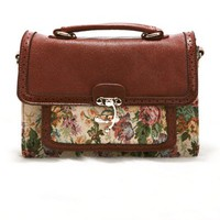 OASAP - Floral Embroidery Shoulder Bag - Street Fashion Store