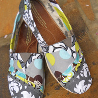 Custom Fabric Covered Toms Shoes Rejuvenate your old by FancyToms