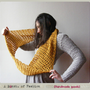 Crochet Infinity Scarf Oversized Womens Boho Cowl Mustard