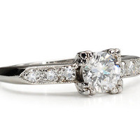 20th C. Diamond Engagement Ring - The Three Graces