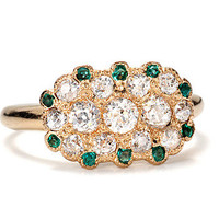 Art Deco Envy: Emerald Diamond Ring - The Three Graces