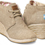 Natural Burlap Women&#x27;s Desert Wedges | TOMS.com