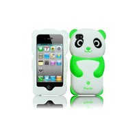 Amazon.com: Green 3D Cute Panda Silicone Jelly Skin Soft Case Cover for Apple Iphone 4G 4 4S 4GS: Cell Phones & Accessories