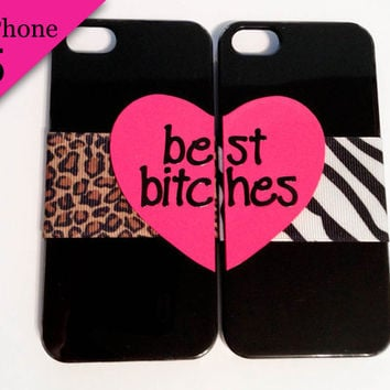 Best Bitches iPhone 5 cases  Cheetah & Zebra by VanityCases